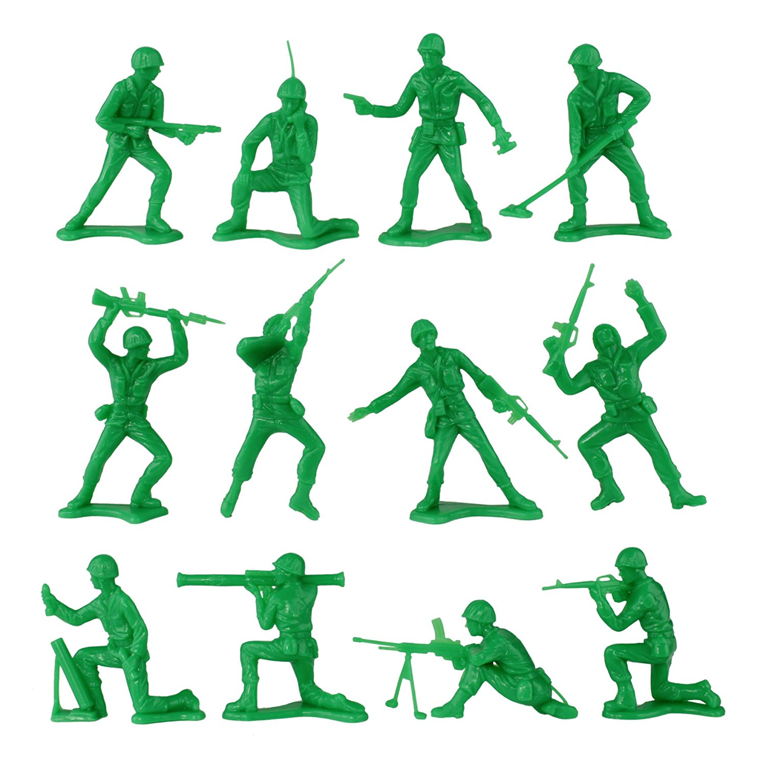 1500x1500 Timmee Plastic Army Men Green Vs Green 96pc Soldier
