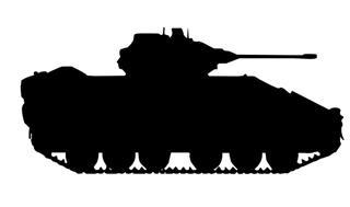 320x189 Army Tank Silhouette 4 Decal Sticker