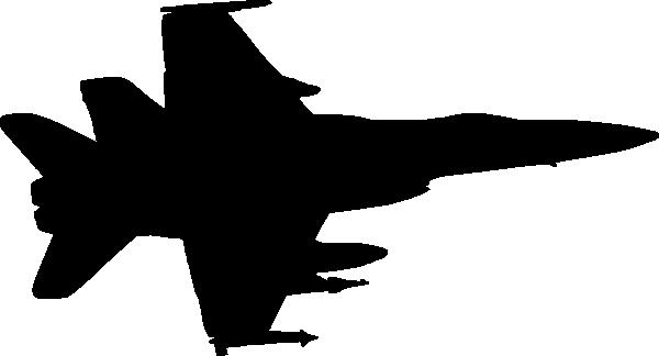 600x324 Military Plane Silhouette Clip Art