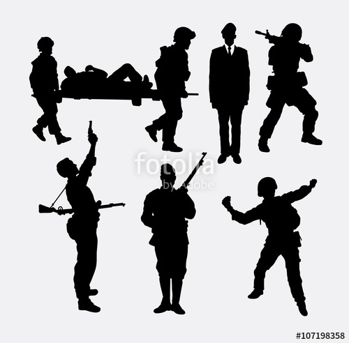 500x492 Soldier, Army And Police Silhouette 5. Good Use For Symbol, Logo