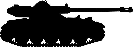 522x187 Buy Haynes Military Tank Iv Silhouette Wall Decal Cutout 20.5x60