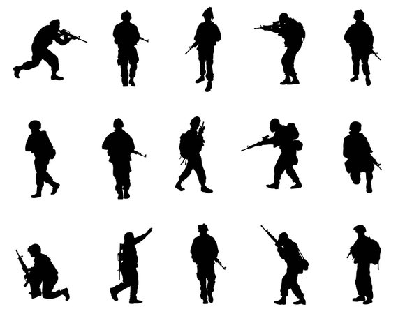 570x453 Warrior Soldier Army Military Clipart Silhouette People Svg