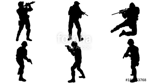 500x282 Army Silhouette Stock Image And Royalty Free Vector Files