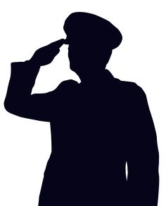 236x293 Saluting Army Soldier's Silhouette Isolated On White (Memorial Day