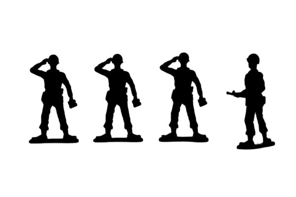 600x400 Silhouette Image Of A Group Of Military Toy Soldiers