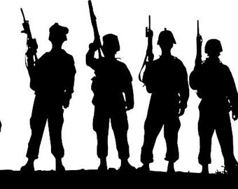 340x270 Soldier Decal Etsy