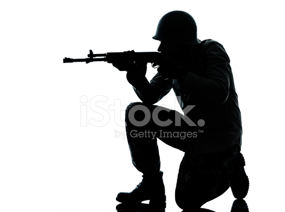 588x439 Army Soldier Man Shooting Stock Photos