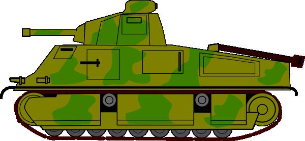 600x279 Military Tank Clip Art