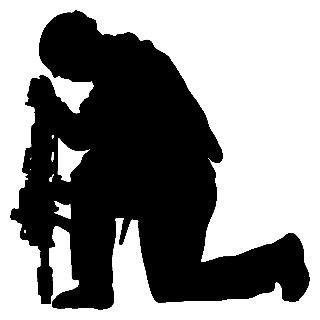 320x320 Military Clipart Silhouette