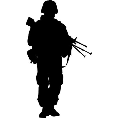 400x400 Wallhogs Haynes Military Soldier Vii Silhouette Cutout Wall Decal