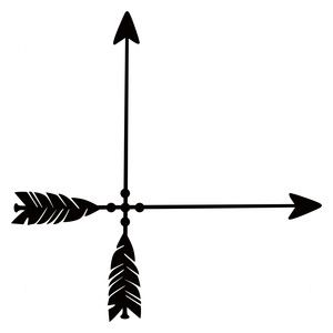 300x300 Arrow Corner Silhouette Design, Arrow And Silhouettes