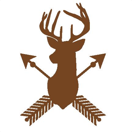 432x432 Deer Arrow Silhouette Svg Scrapbook Cut File Cute Clipart Files