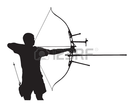 450x368 Archery Couple Silhouette Clipart