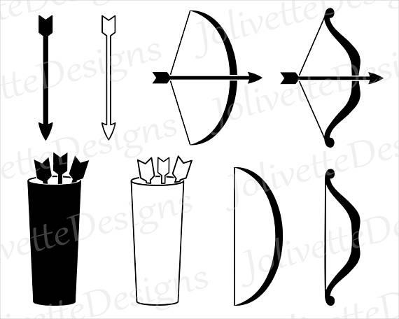 570x456 Bow, Arrow, Quiver, Archer, Archery, Feather, String, Clip Art