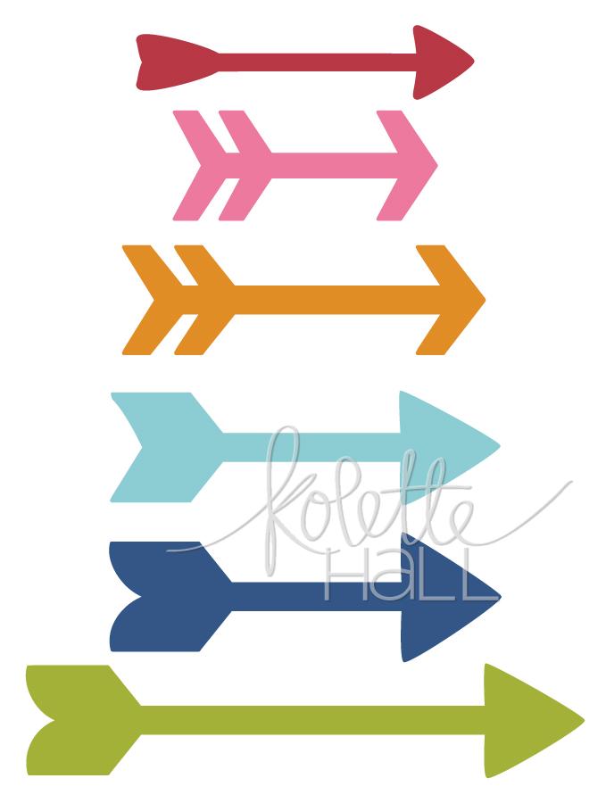 679x900 Silhouette Arrows, Banner Words, Arrow Words + Flourish Phrases