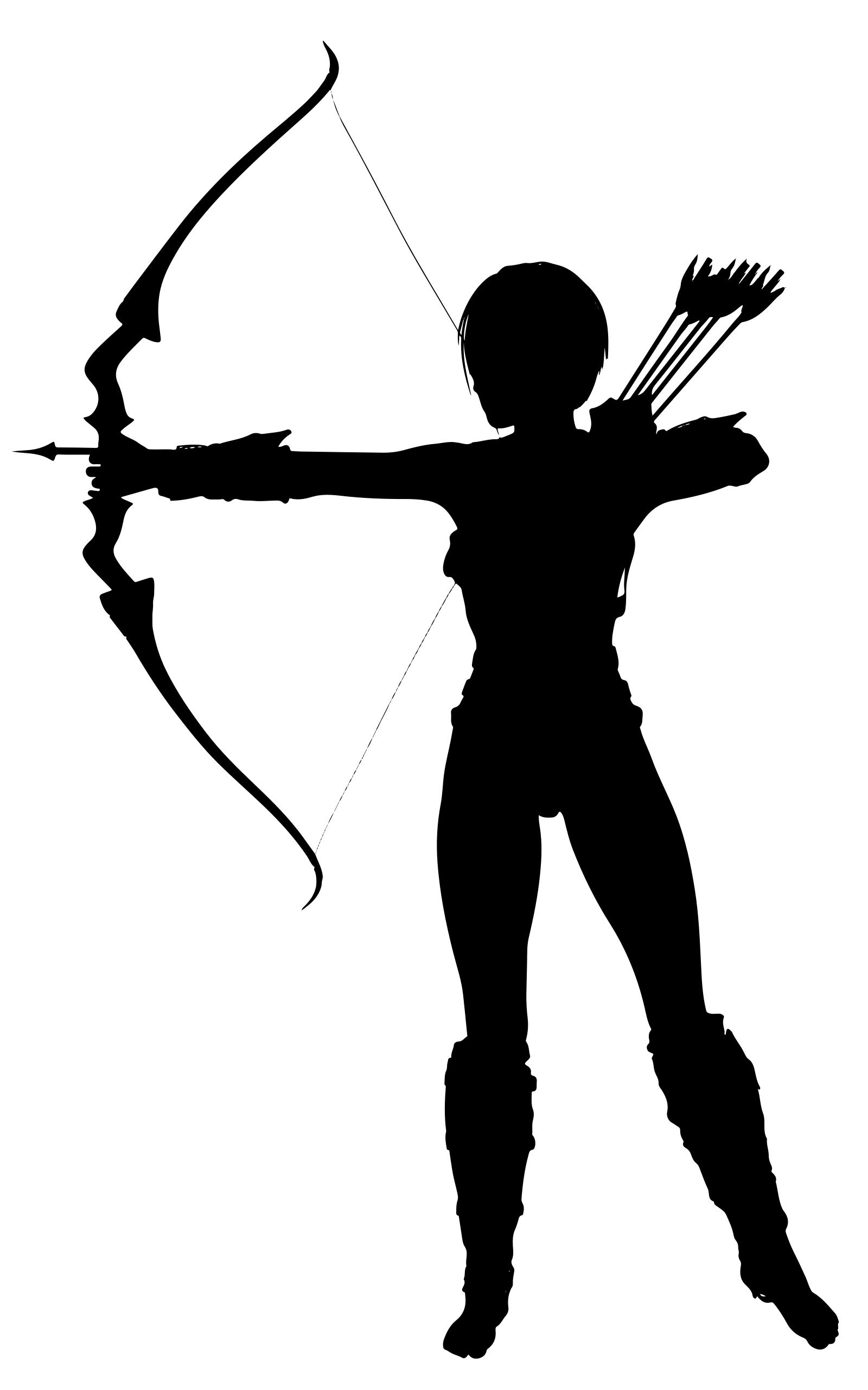 1600x2560 Amazon Archer Silhouette Clipart