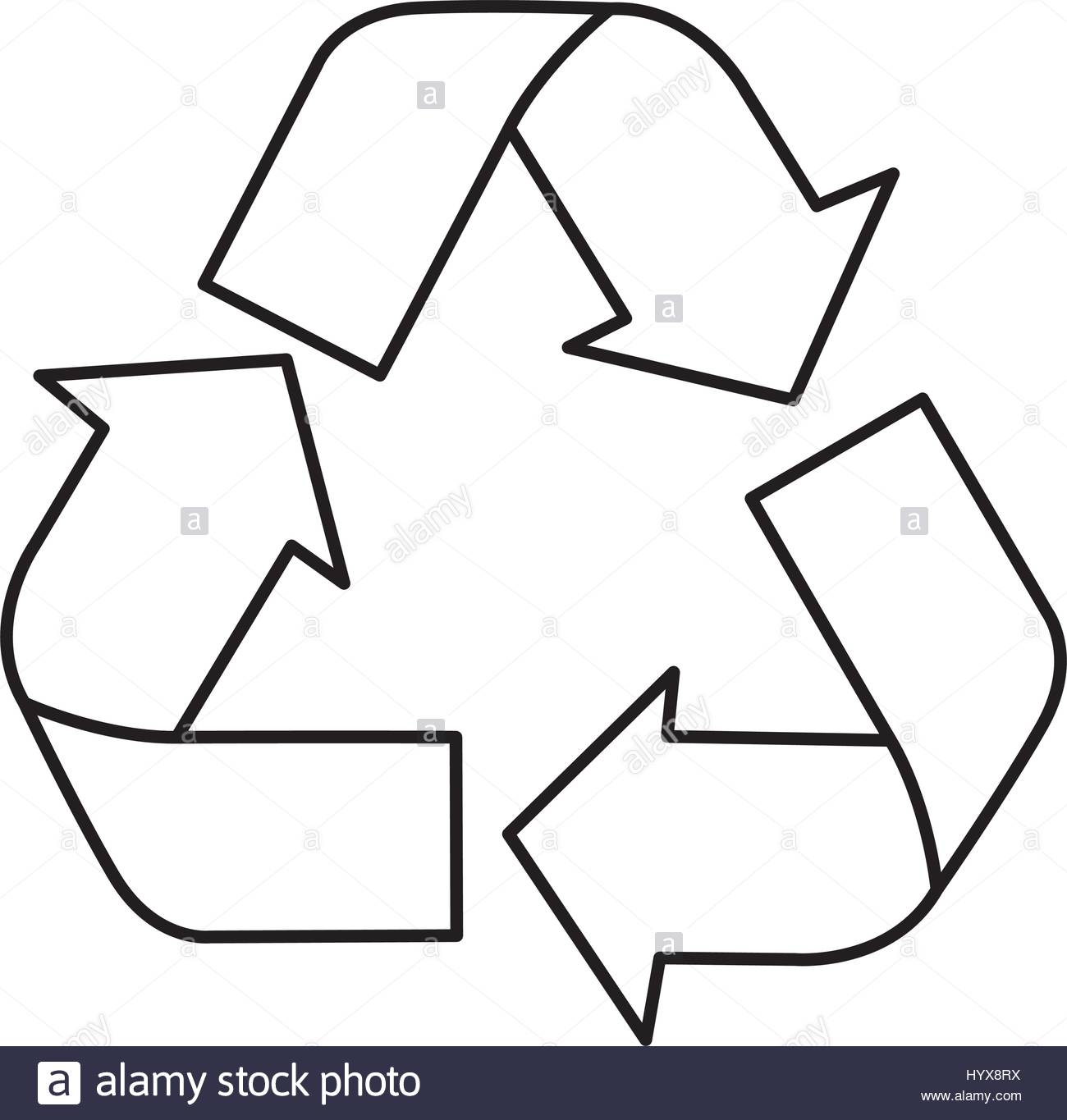 1300x1365 Silhouette Recycling Symbol With Arrows Stock Vector Art