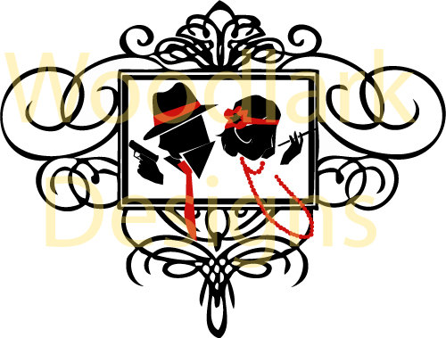 500x379 Jpg Wedding Silhouette Couple Pose 6 Art Deco Amp Great Gatsby