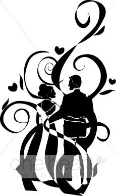 230x388 Art Deco Wedding Clipart