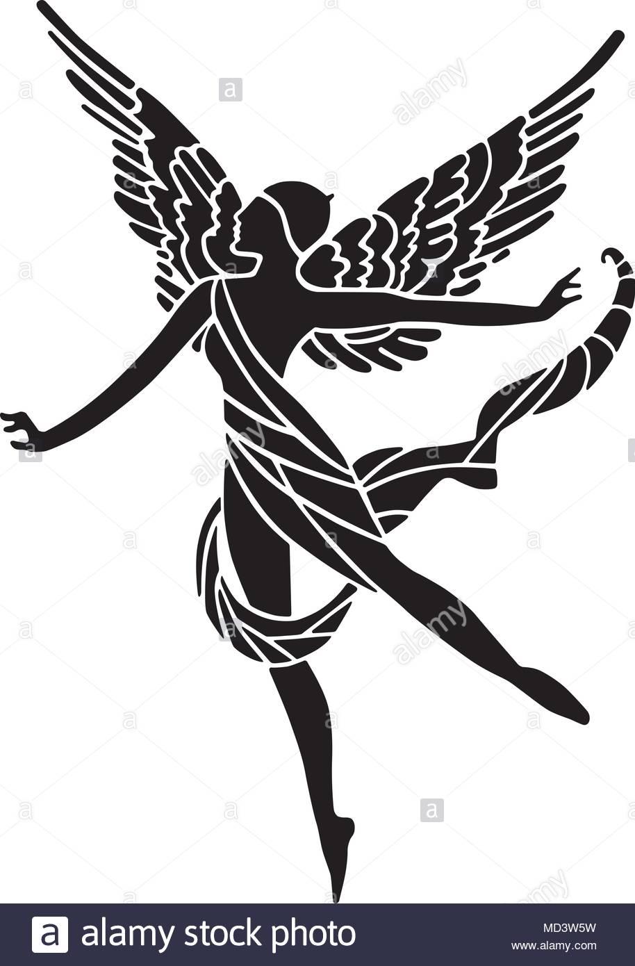 914x1390 Art Deco Winged Goddess