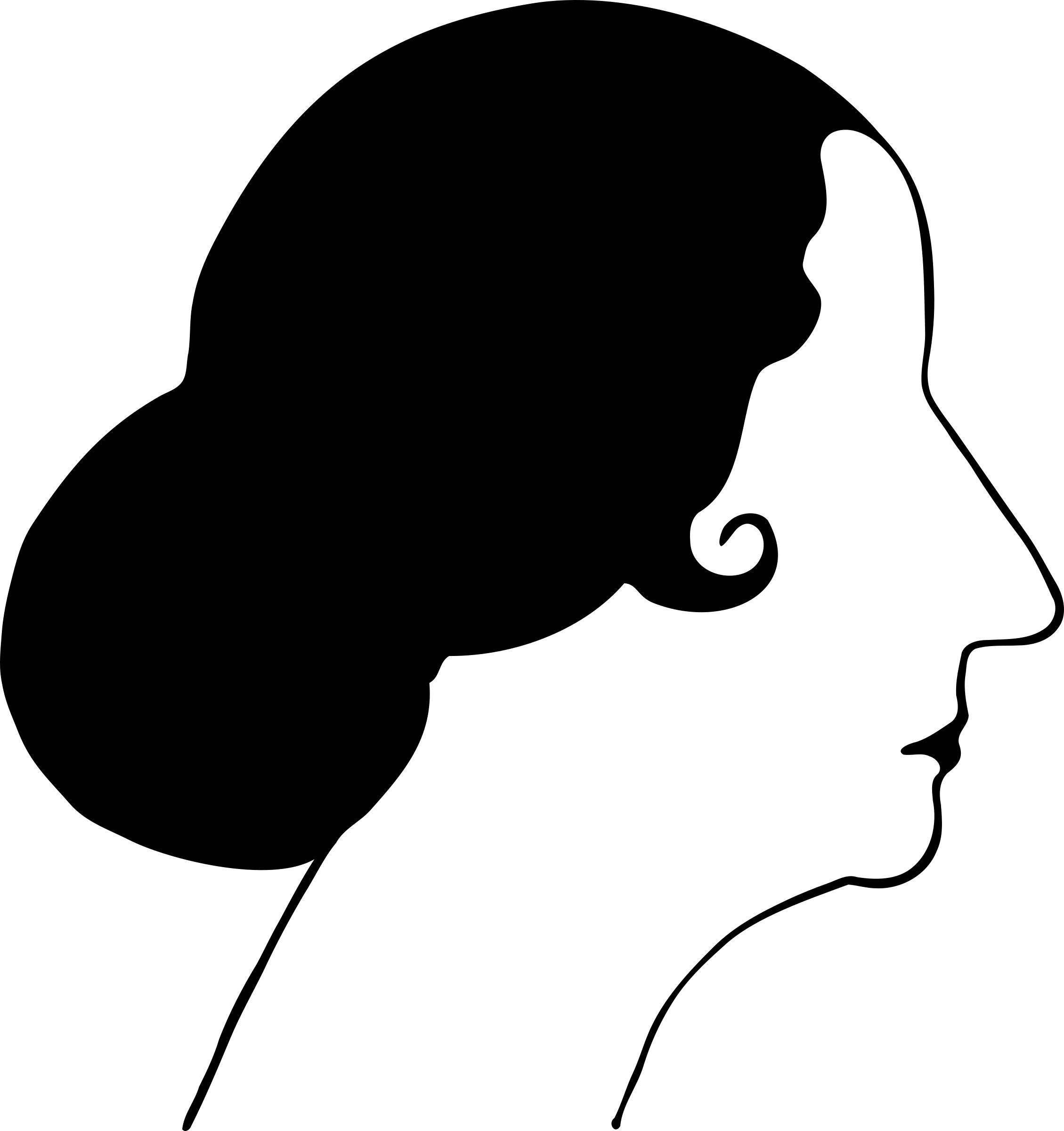 2259x2400 Woman Silhouette 19 Icons Png