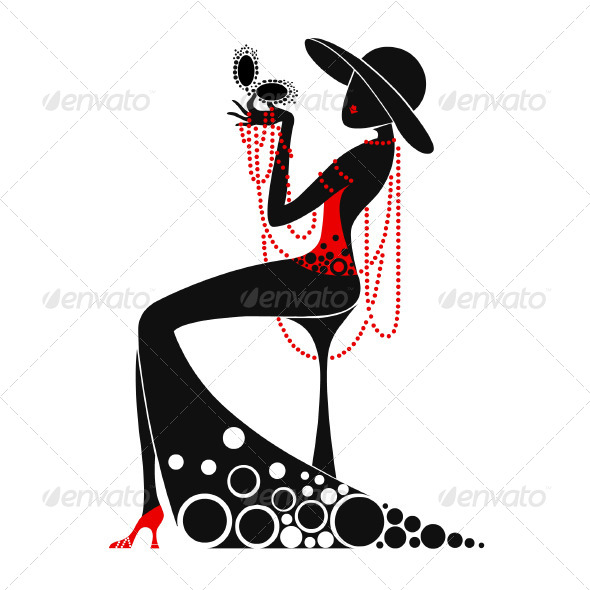 590x590 Woman And Man Artdeco Style Illustrations By Tamiq Graphicriver
