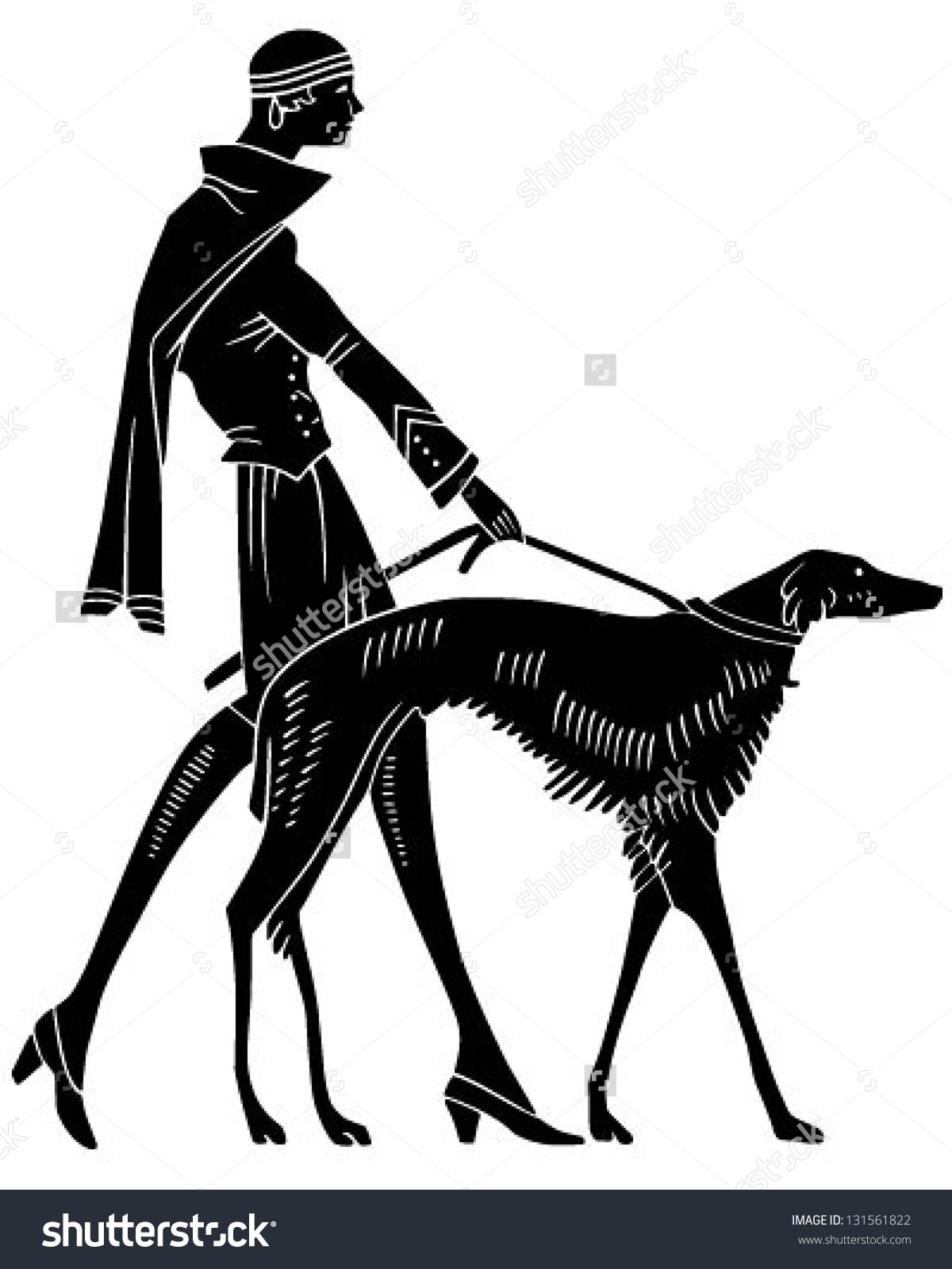 1200x1600 Art Deco Woman With Dog