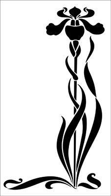 227x400 Art Nouveau Letter Stencil