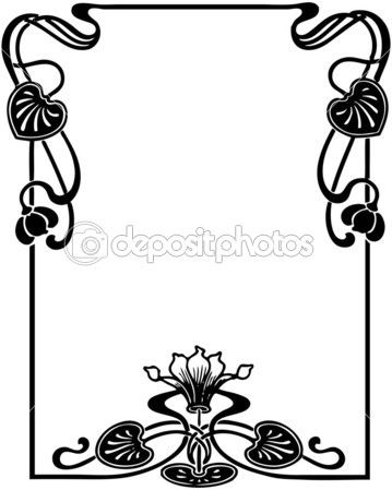 Art Nouveau Silhouette at GetDrawings.com | Free for personal use ...