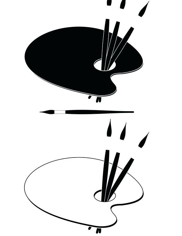 618x800 Art Palette Black And White Black Blurred Silhouette Cartoon
