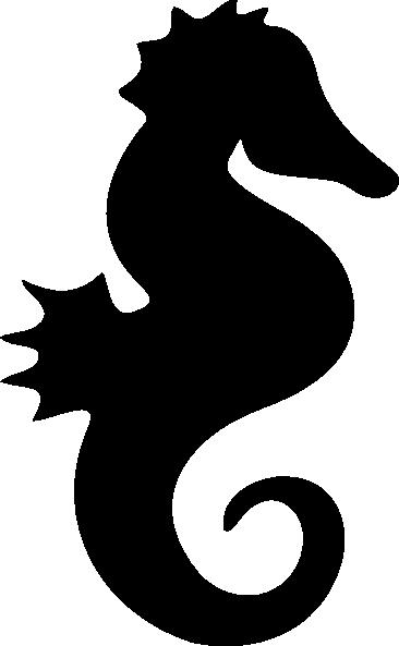 366x593 Seahorse Silhouette Clip Art Free Vector 4vector