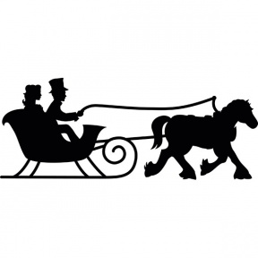 288x288 Horse And Sleigh Silhouette Clipart