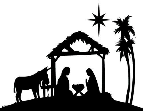 500x390 Nativity Silhouettes