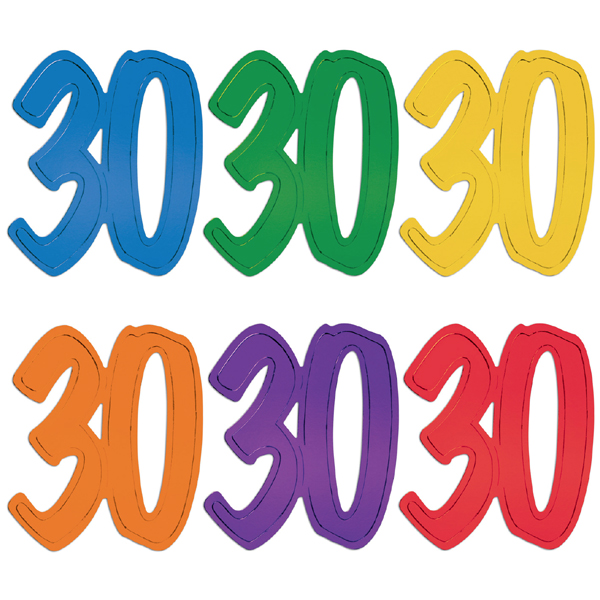 600x600 Buy 12 In. Foil Number Silhouette Cutouts