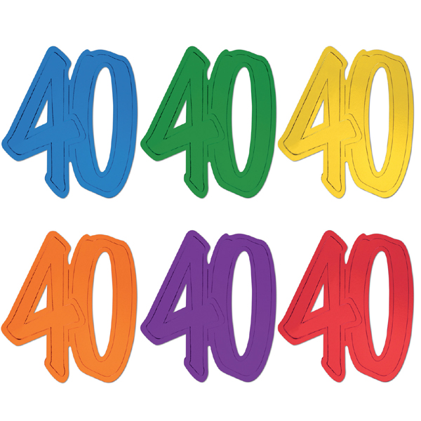 600x600 Buy 12 Inch Foil Number Silhouette Cutouts