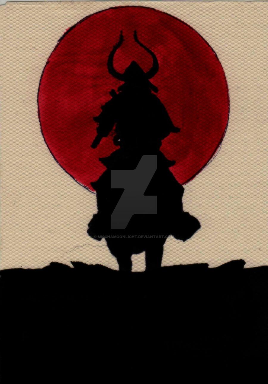 900x1290 Red Samurai By Mischamoonlight