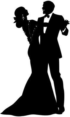 236x393 Wedding Couple Silhouette Clip Art Clipart