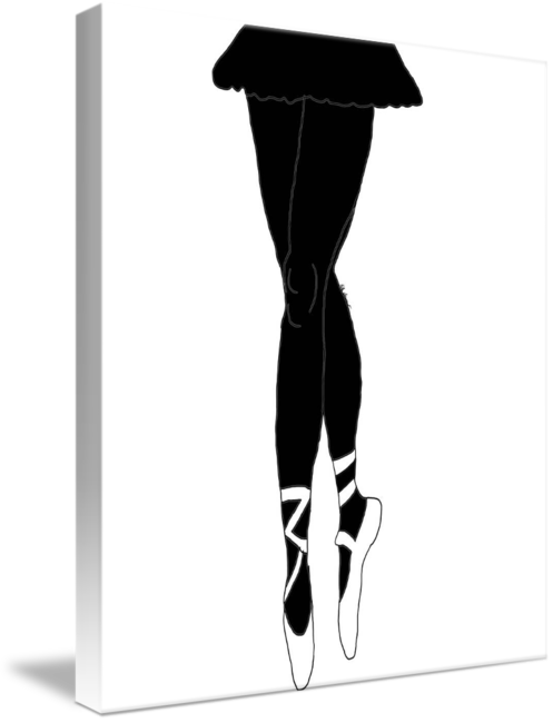 497x650 Ballerina Legs Silhouette By Kate Farrant