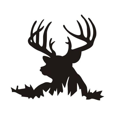 470x470 Creative Deer Head Silhouette Wall Sticker Art Home Decoration