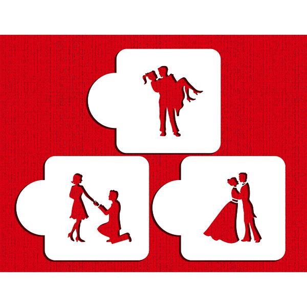 600x600 Stages Of Love Silhouette Stencil Set By Designer Stencils Stencils