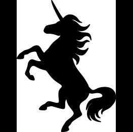 263x262 Unicorn Silhouette Clipart