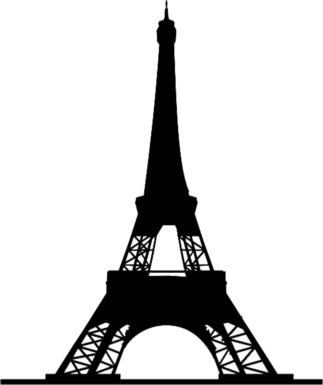 645x768 Eiffel Tower Silhouette Clipart Fancy Design
