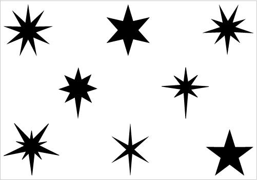 501x352 Star Silhouette Clipart
