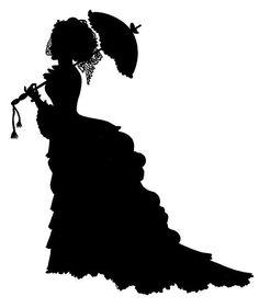 236x281 Victorian Woman Silhouette Clipart