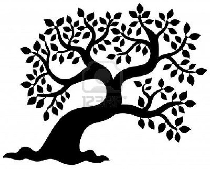 736x594 Oak Tree Outline Clip Art