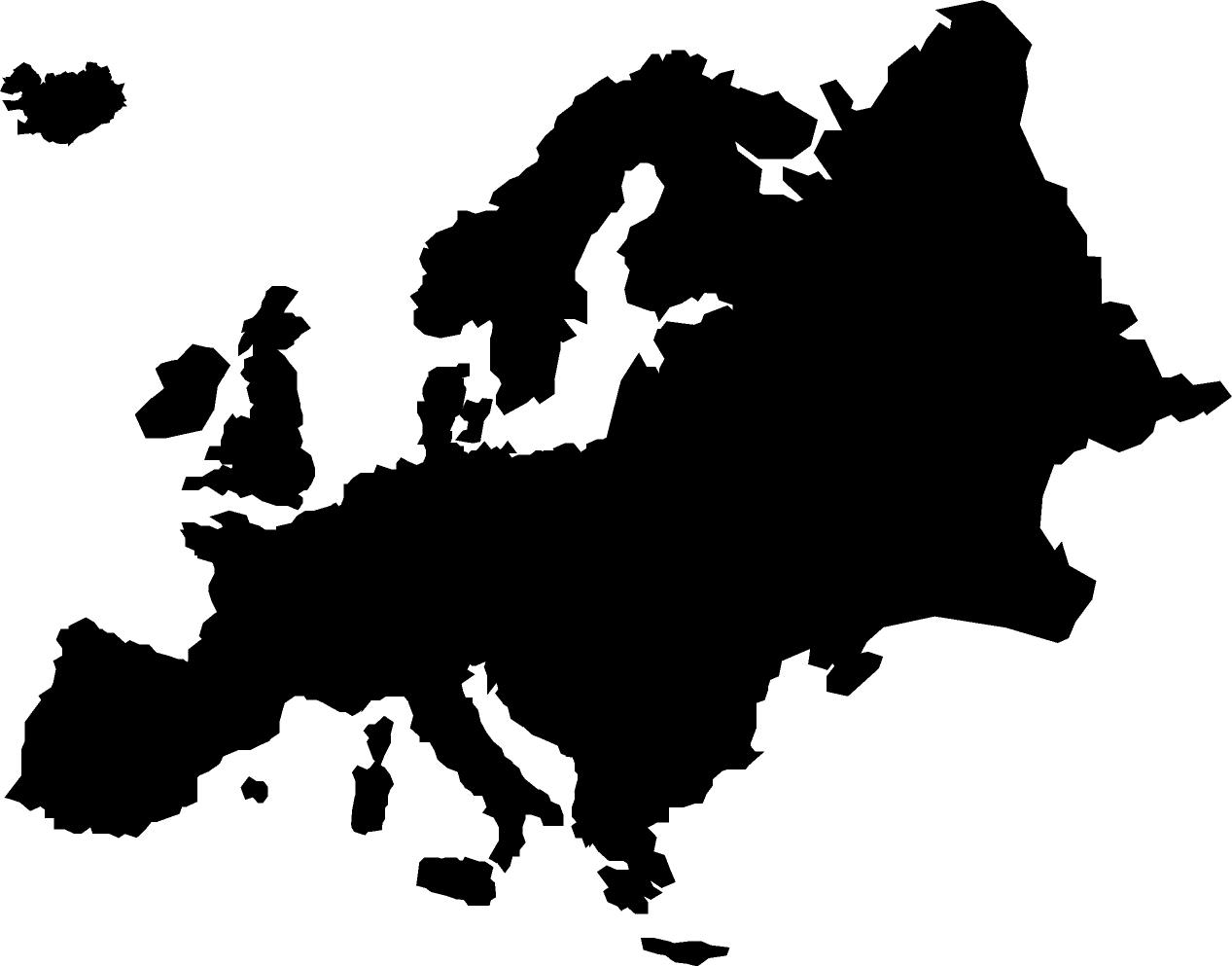 1267x993 Europe Clipart Black And White