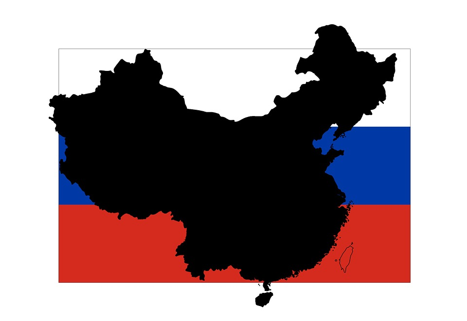 960x661 Free Photo Red Outline China Borders Russia Flag Map