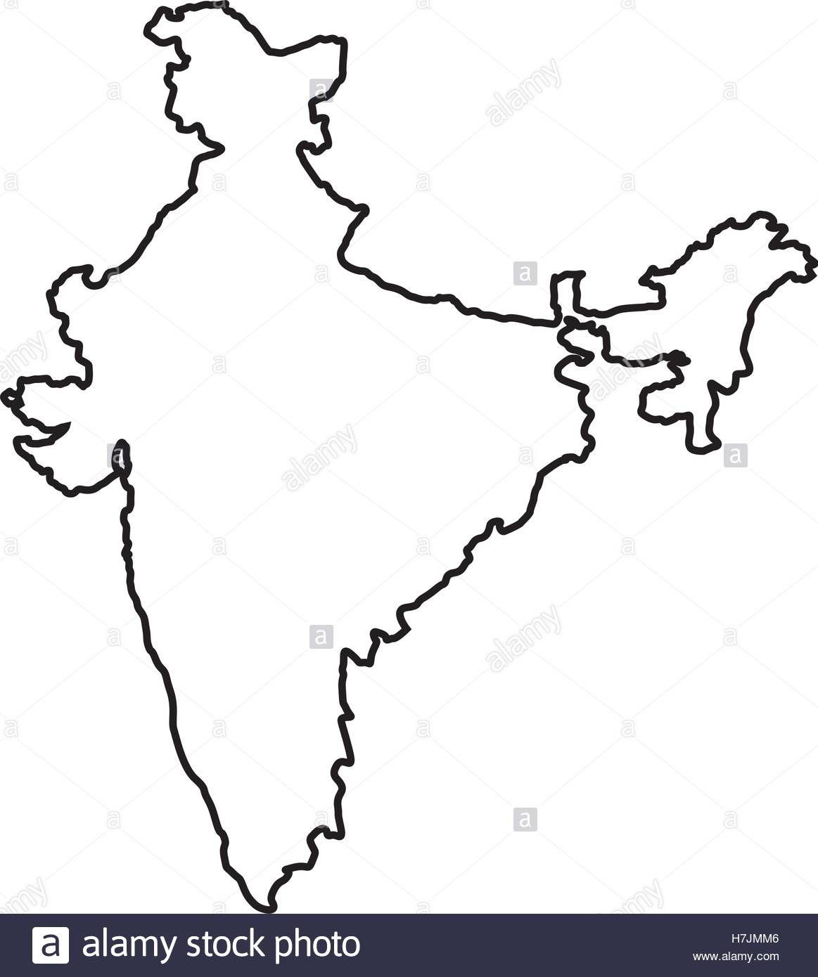 1163x1390 Silhouette Of Republic Of India Country Map Icon Over White Stock