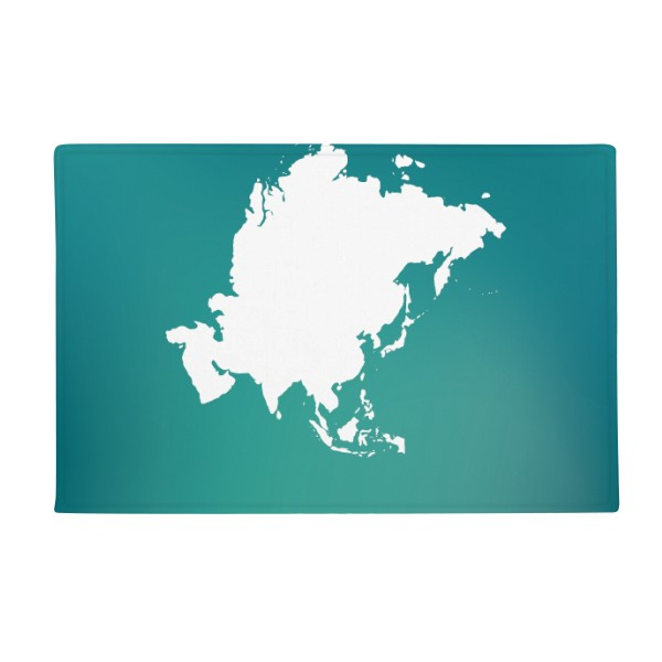 600x600 Asia Continent Outline Silhouette Map Anti Slip Floor Mat Carpet