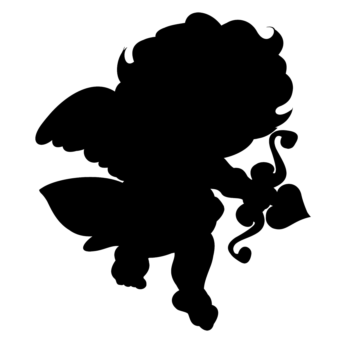 1181x1181 Cupid Silhouette.png Clipart Silhouette